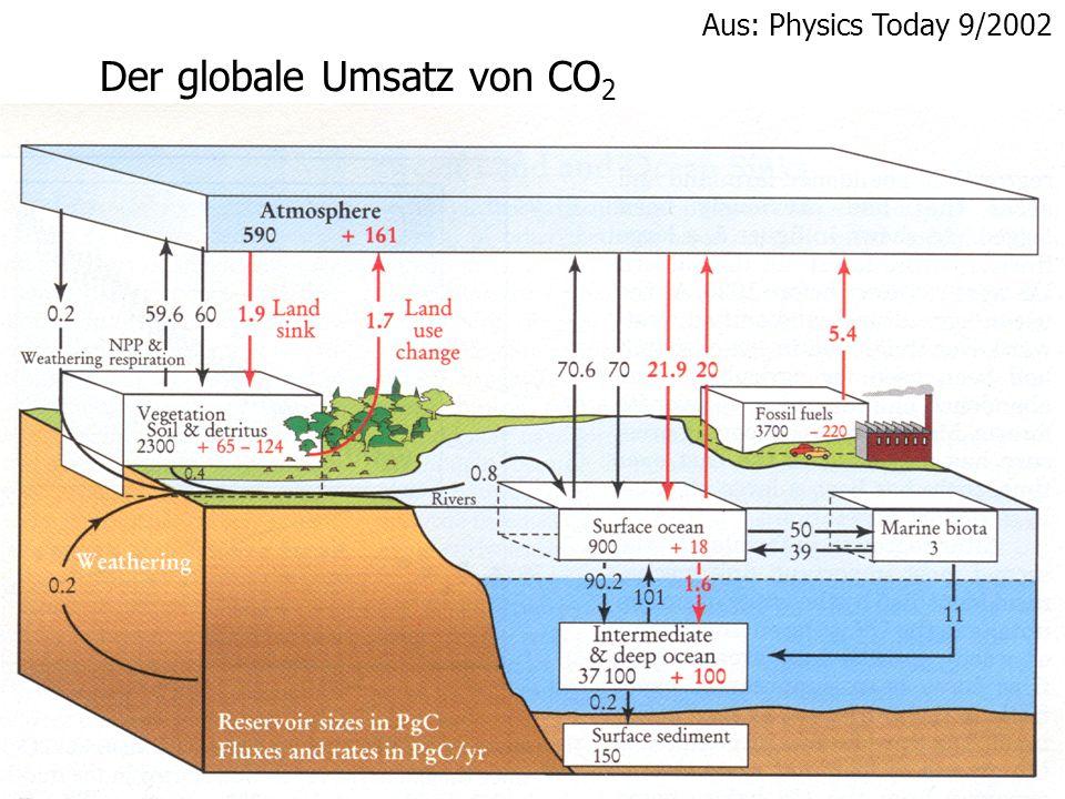 Der globale Umsatz von CO 2 Aus: Physics Today 9/2002