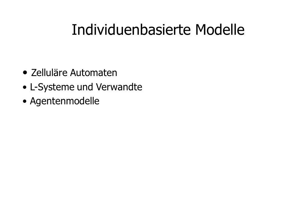 Zelluläre Automaten L-Systeme und Verwandte Agentenmodelle Individuenbasierte Modelle