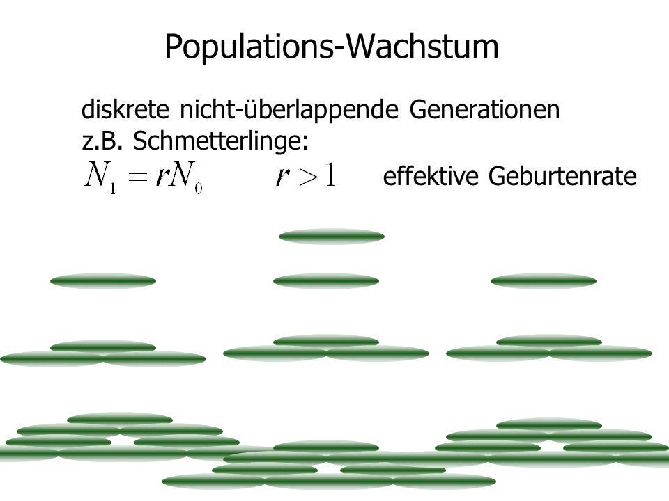 Populations-Wachstum diskrete nicht-überlappende Generationen z.B.
