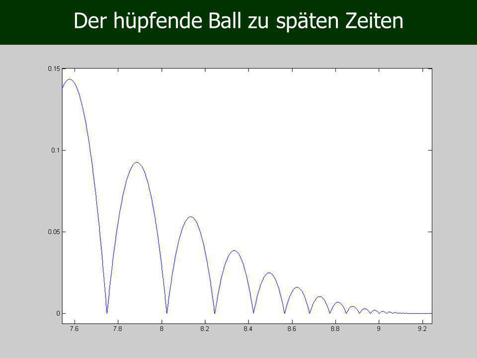 Der hüpfende Ball zu späten Zeiten