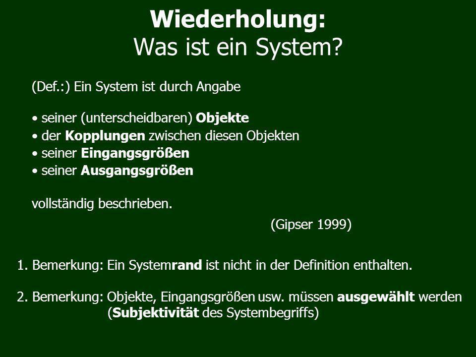 Was ist ein System.