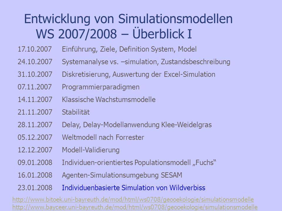 Individuenbasierte Simulation von Wildverbiss in Tragic++ – Diplomarbeit Max Daenner –