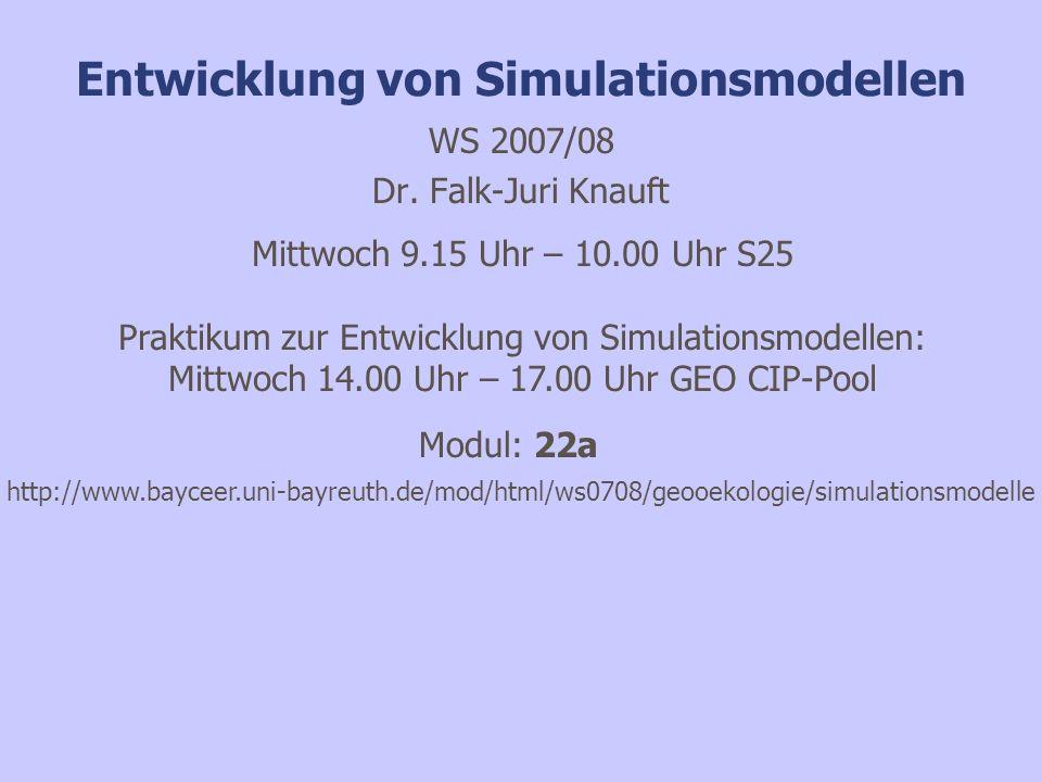Bifurkation im logistischen Räuber-Beute- Modell