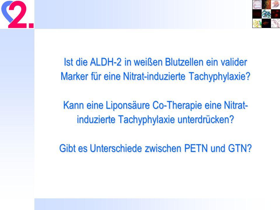 Vasodilatatorische Wirkung von GTN und PETN nach 30 bzw.