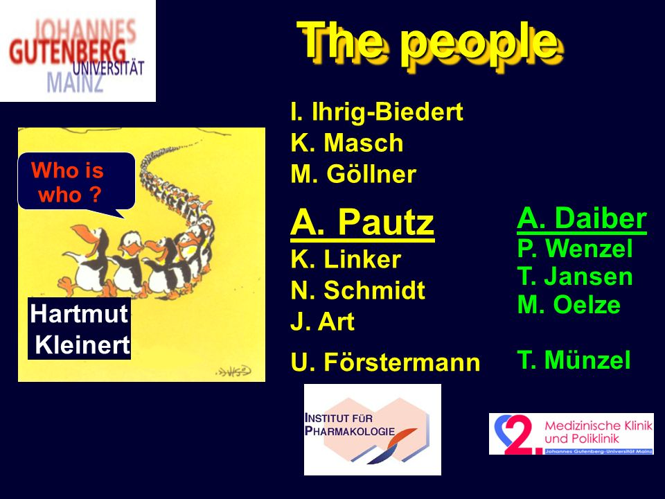 The people Who is who .Hartmut Kleinert A. Pautz K.