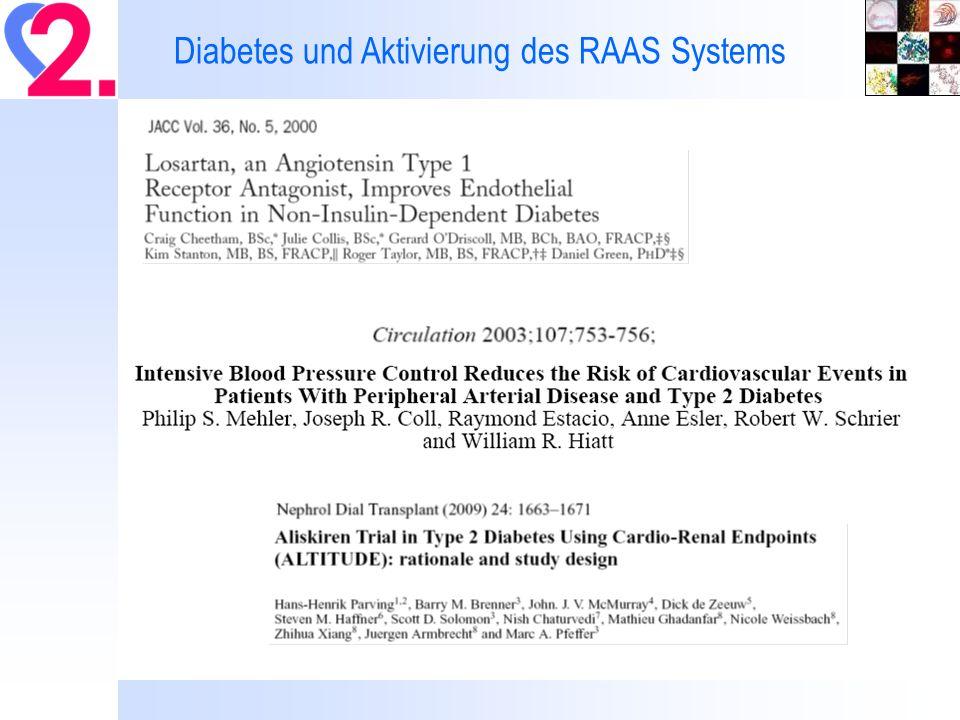 Diabetes und Aktivierung des RAAS Systems