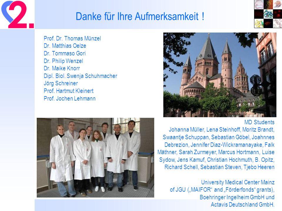Prof.Dr. Thomas Münzel Dr. Matthias Oelze Dr. Tommaso Gori Dr.
