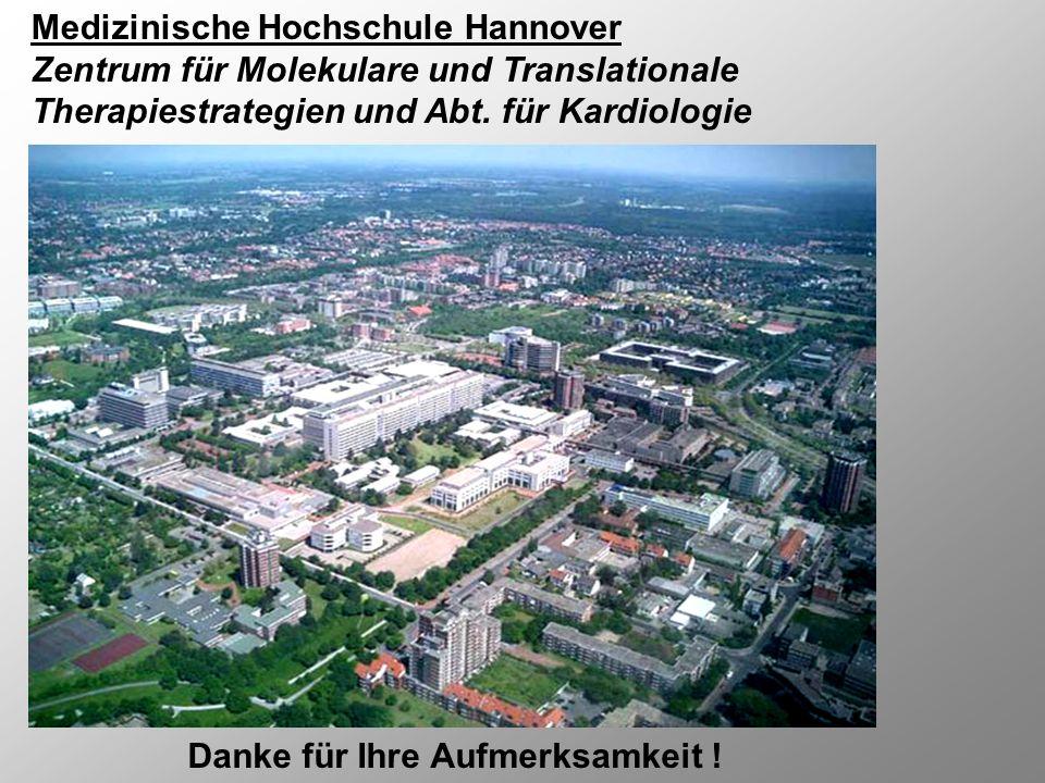 Medizinische Hochschule Hannover Zentrum für Molekulare und Translationale Therapiestrategien und Abt. für Kardiologie Danke für Ihre Aufmerksamkeit !