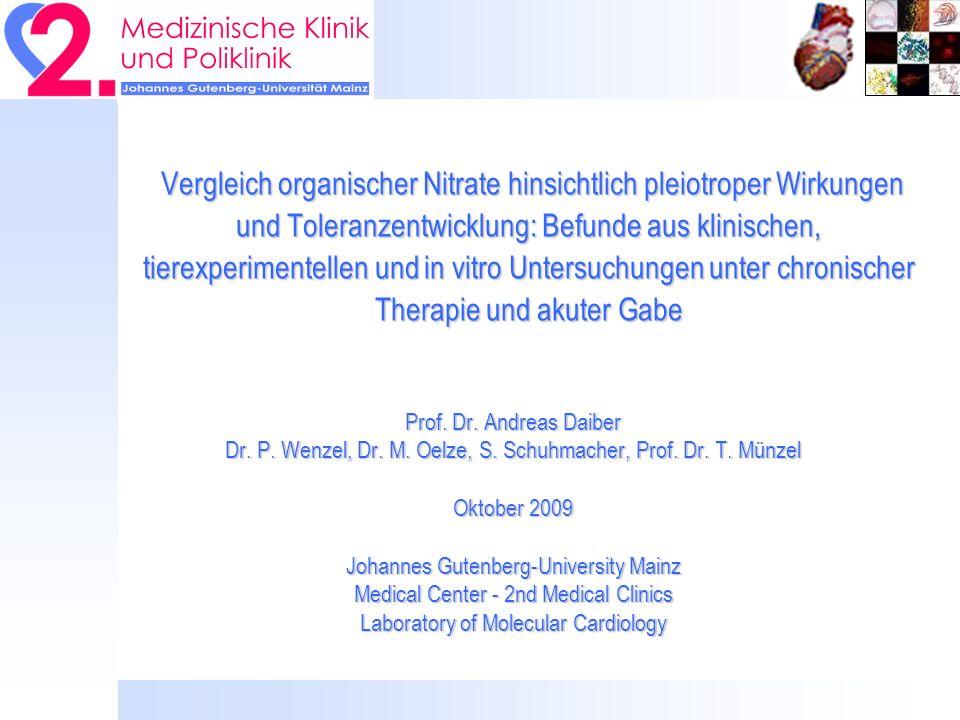 Daiber, Kamuf und Kleinert, unpublished Aktivität der ALDH-2