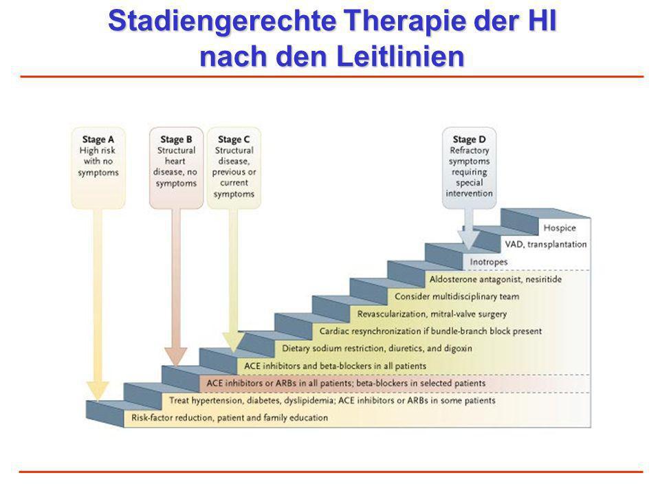 Stadiengerechte Therapie der HI nach den Leitlinien