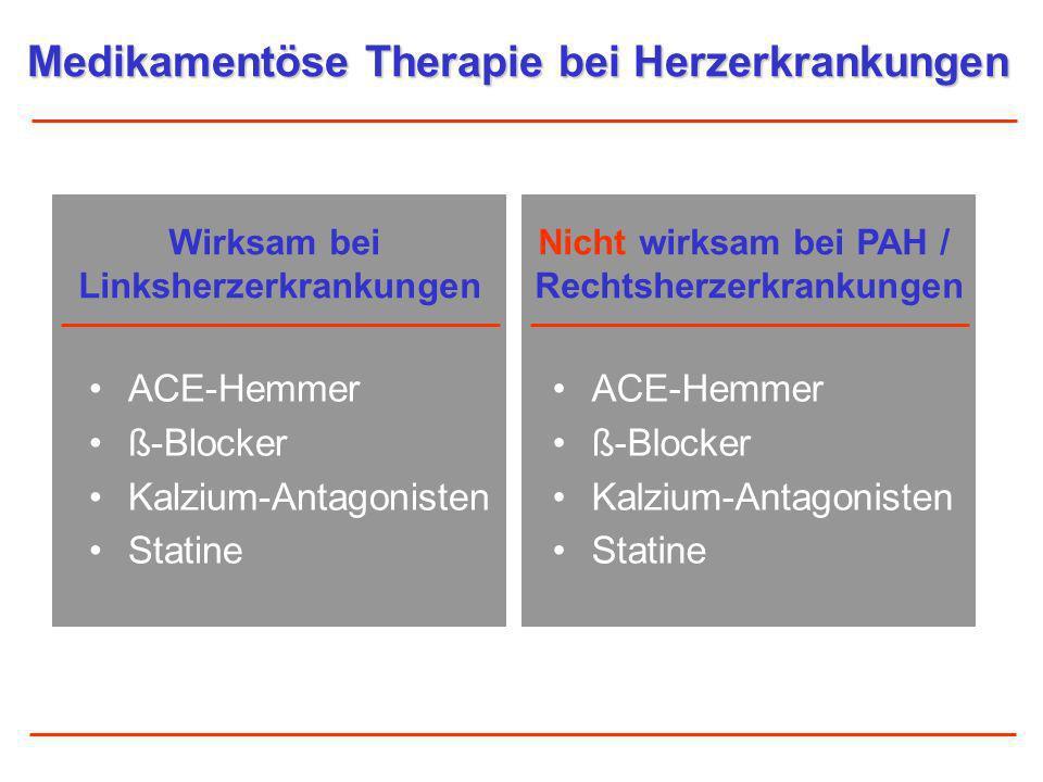 ACE-Hemmer ß-Blocker Kalzium-Antagonisten Statine ACE-Hemmer ß-Blocker Kalzium-Antagonisten Statine Medikamentöse Therapie bei Herzerkrankungen Wirksa