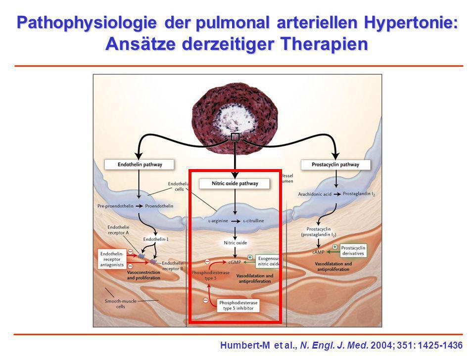 Pathophysiologie der pulmonal arteriellen Hypertonie: Ansätze derzeitiger Therapien Humbert-M et al., N. Engl. J. Med. 2004; 351: 1425-1436