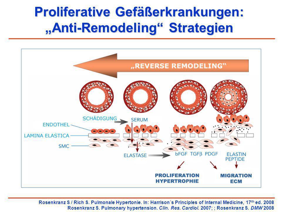 Proliferative Gefäßerkrankungen: Anti-Remodeling Strategien Rosenkranz S / Rich S. Pulmonale Hypertonie. In: Harrison´s Principles of Internal Medicin