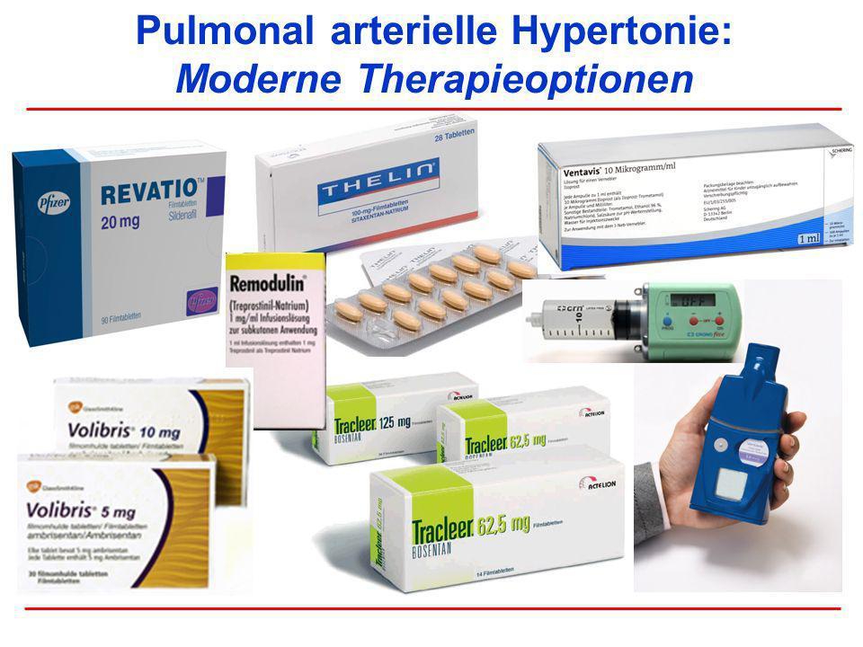 Akuteffekte von PETN (80 mg) auf die pulmonale Hämodynamik bei pulmonal venöser Hypertonie PAP: Relative Veränderungen nach PETN Effekte von PETN auf den PAPsyst (% Baseline) 60 80 100 120 0 246 Zeit nach PETN-Gabe (h) PAPsyst (% Baseline) Effekte von PETN auf den PAPmean (% Baseline) 60 80 100 120 02 46 Zeit nach PETN-Gabe (h) PAPmean (% Baseline) Rosenkranz-S, Erdmann-E (unpublished data)