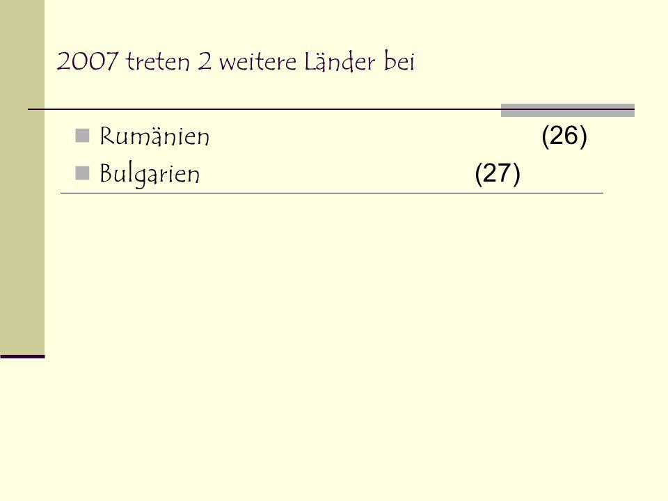 Den Status von Beitrittsstaaten haben zur Zeit Kroatien Schweiz (Beitrittsgesuch ruht) Kandidat ohne Aufnahmetermin ist zur Zeit die TÜRKEI ( es laufen bereits Verhandlungen) Mazedonien (noch keine Verhandlungen) Als potenzielle Kandidaten gelten zur Zeit (Verhandlungen erst später: Albanien, Montenegro, Bosnien – Herzegowina und Serbien