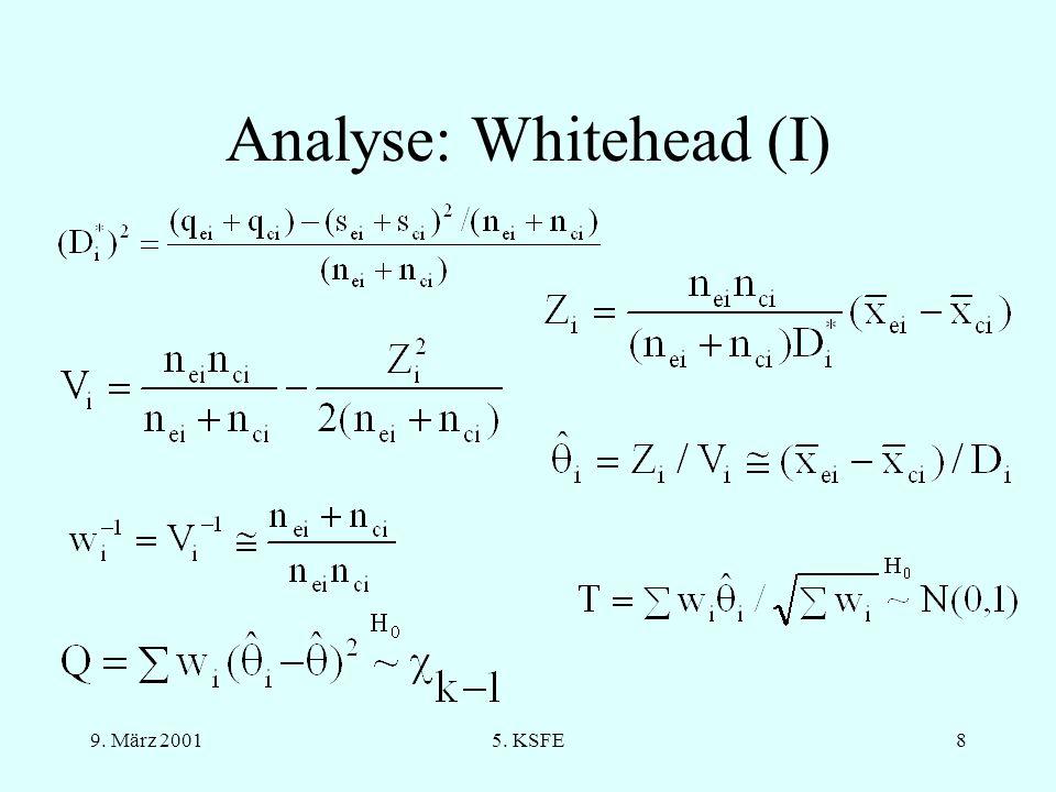 9. März 20015. KSFE7 Software Für die Analyse (und graphische Darstellung) von Meta-Analysen, unter anderem: RevMan (CC) MetaAnalysis (kommerziell) Ep