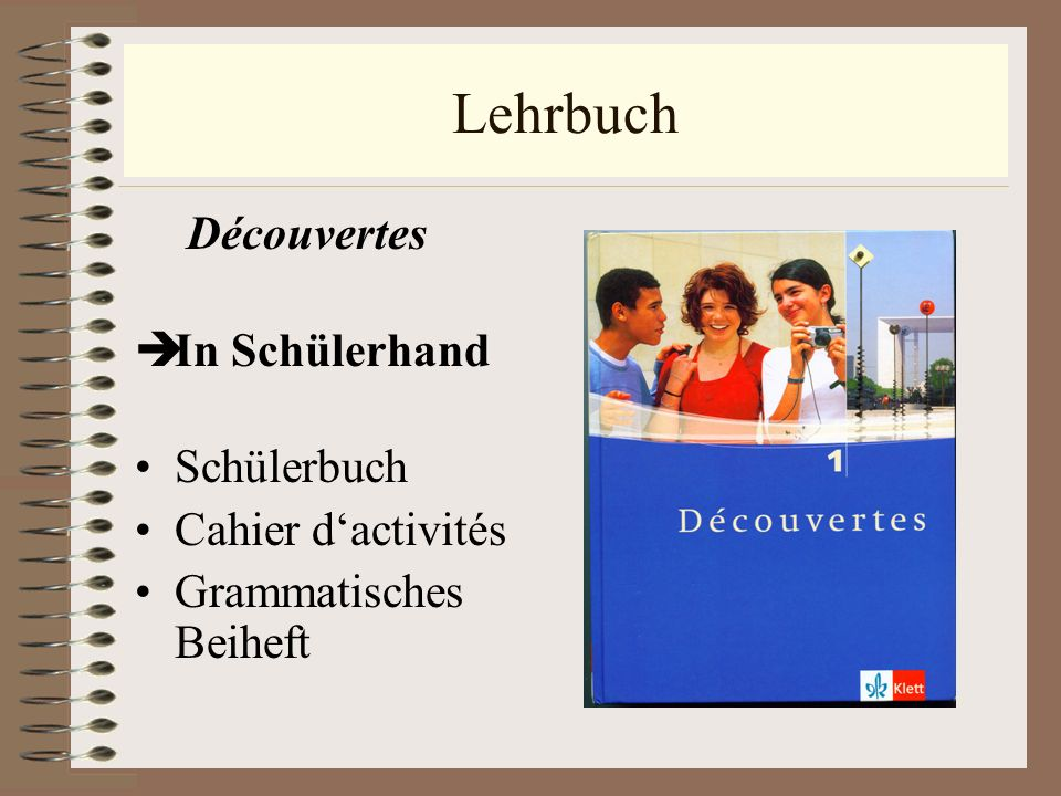 Lehrbuch Découvertes In Schülerhand Schülerbuch Cahier dactivités Grammatisches Beiheft
