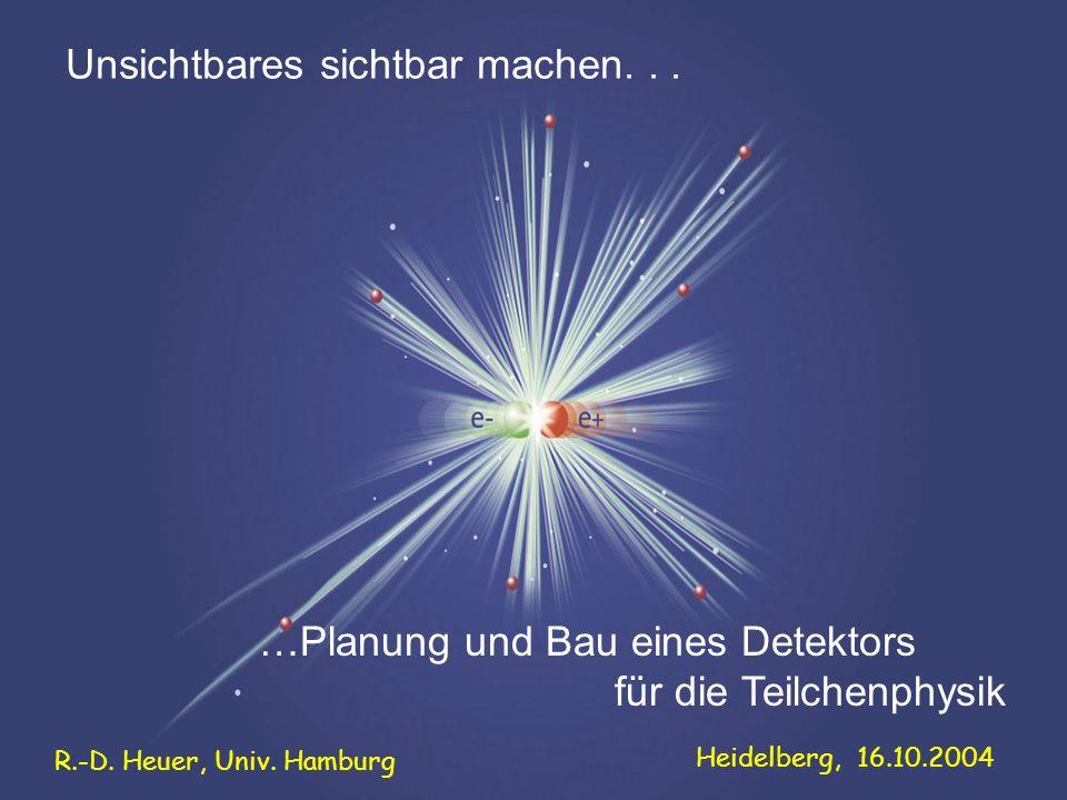 …Planung und Bau eines Detektors für die Teilchenphysik Unsichtbares sichtbar machen...