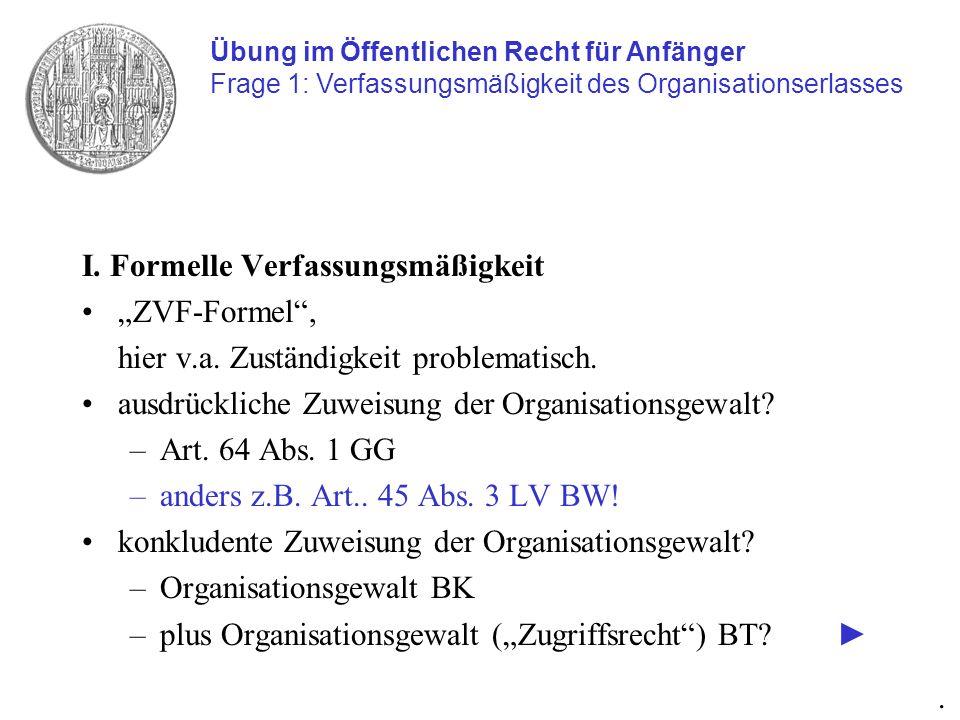 Kernproblem Organisationsgewalt (Zugriffsrecht) BT.