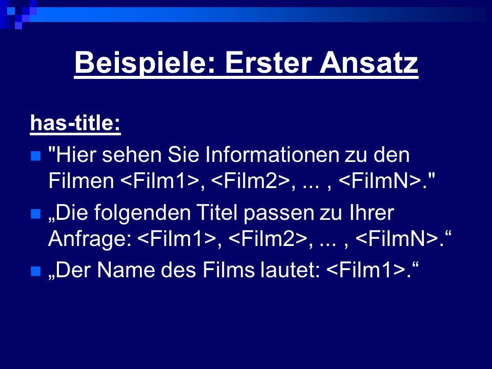 Beispiele: Erster Ansatz has-title: