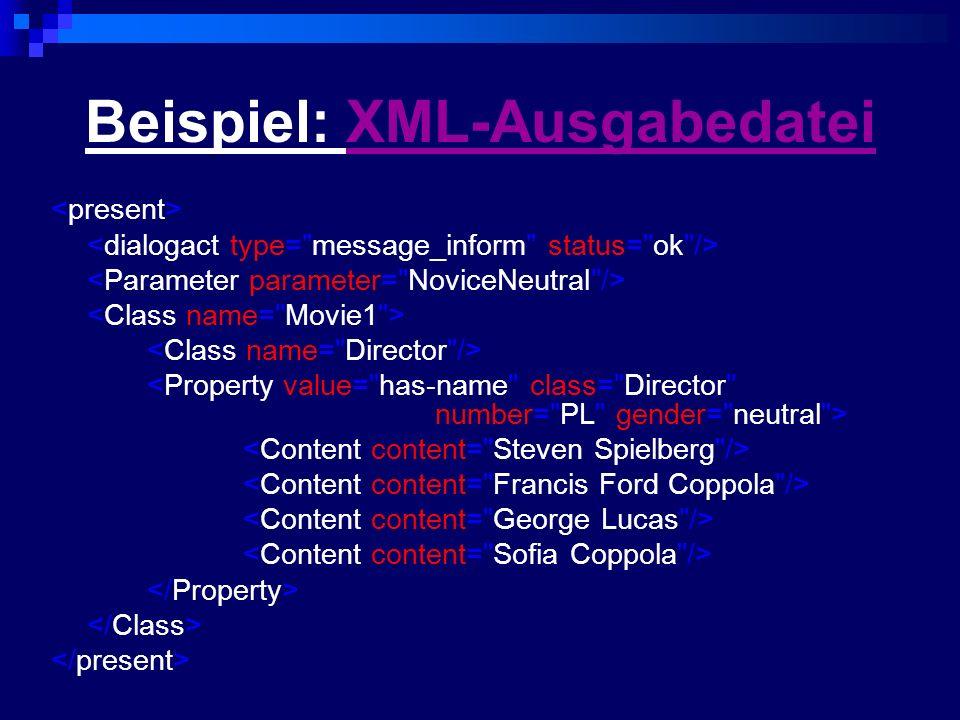 Beispiel: XML-AusgabedateiXML-Ausgabedatei