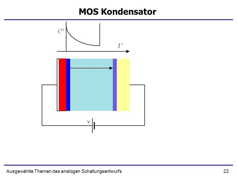 22Ausgewählte Themen des analogen Schaltungsentwurfs MOS Kondensator V
