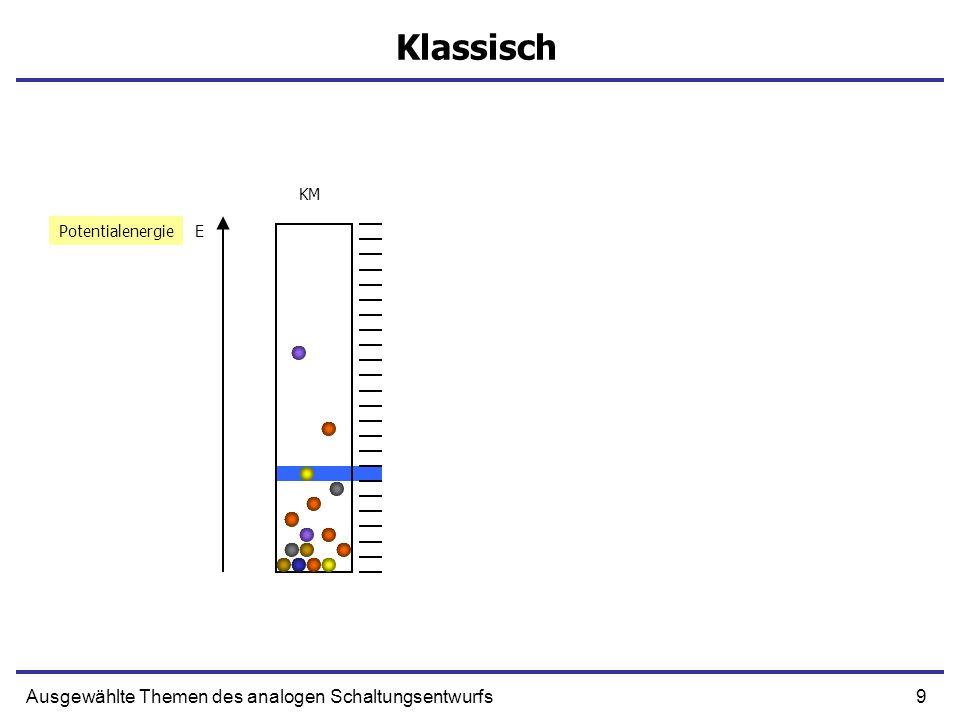 9Ausgewählte Themen des analogen Schaltungsentwurfs Klassisch EPotentialenergie KM