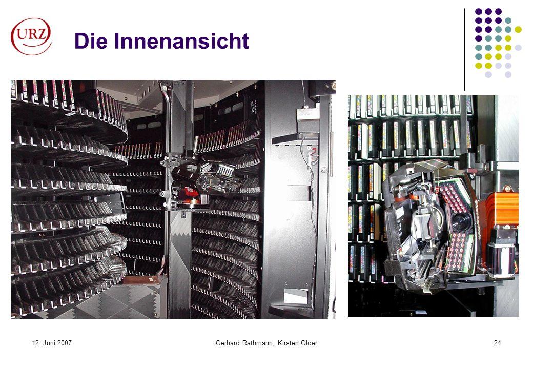 12. Juni 2007Gerhard Rathmann, Kirsten Glöer24 Die Innenansicht