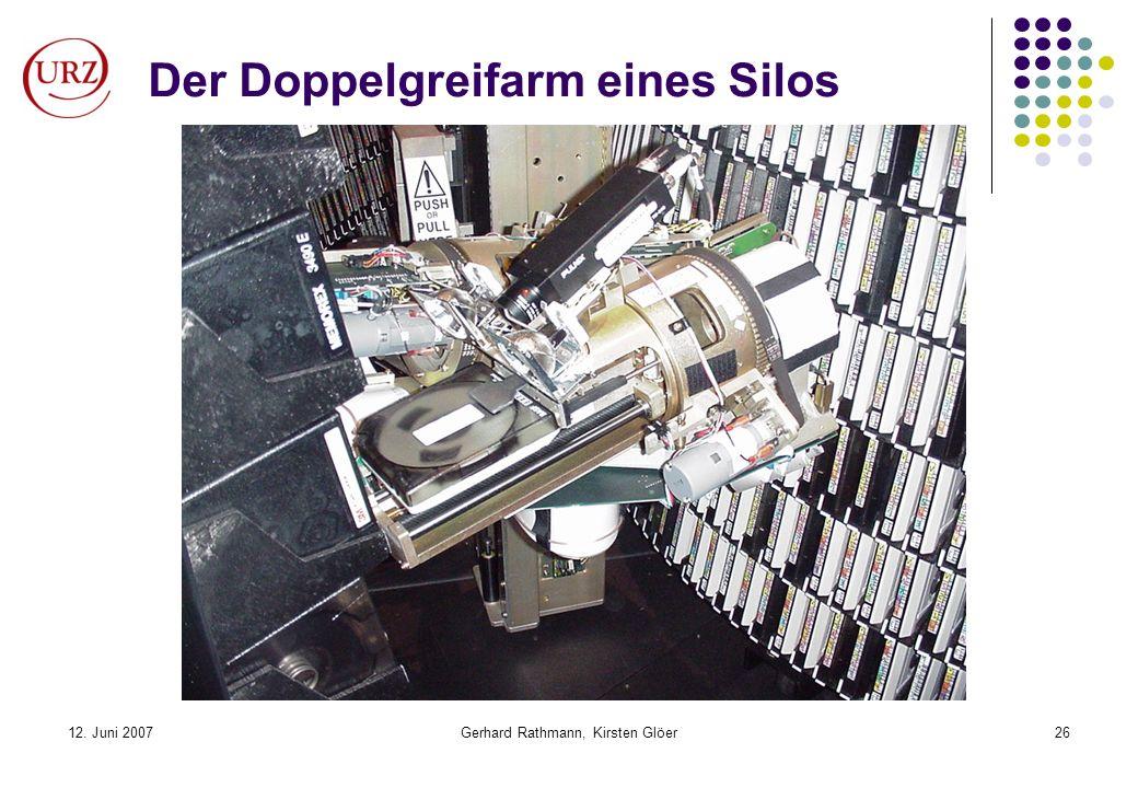 12. Juni 2007Gerhard Rathmann, Kirsten Glöer26 Der Doppelgreifarm eines Silos