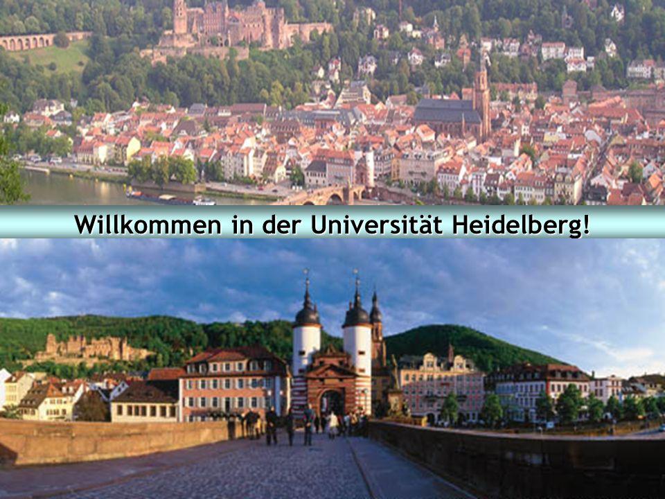 Studieninformationstag 2007 Fakultät für Wirtschafts- und Sozialwissenschaften Ruprecht-Karls-Universität Heidelberg 1 Willkommen in der Universität H