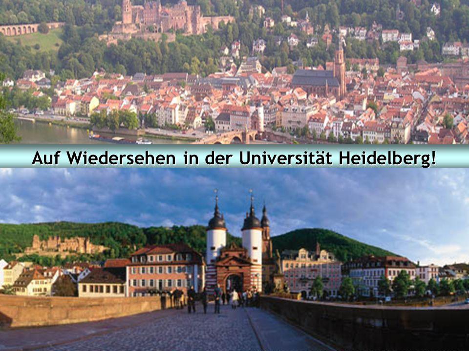 Studieninformationstag 2007 Fakultät für Wirtschafts- und Sozialwissenschaften Ruprecht-Karls-Universität Heidelberg 42 Auf Wiedersehen in der Univers