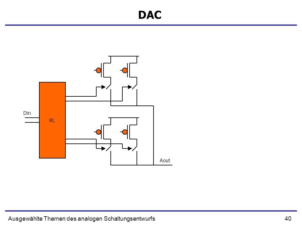 40Ausgewählte Themen des analogen Schaltungsentwurfs DAC KL Din Aout