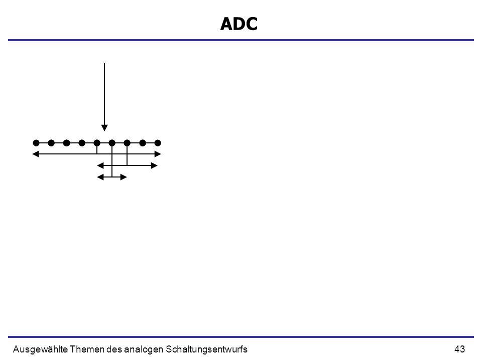 43Ausgewählte Themen des analogen Schaltungsentwurfs ADC