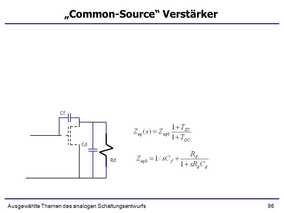 96Ausgewählte Themen des analogen Schaltungsentwurfs Common-Source Verstärker Rd Cf Cd