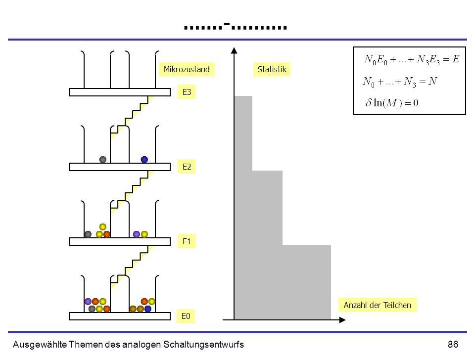 86Ausgewählte Themen des analogen Schaltungsentwurfs …….-………. Anzahl der Teilchen Statistik E0 E1 E2 E3 Mikrozustand
