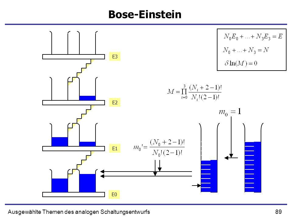 89Ausgewählte Themen des analogen Schaltungsentwurfs Bose-Einstein E0 E1 E2 E3