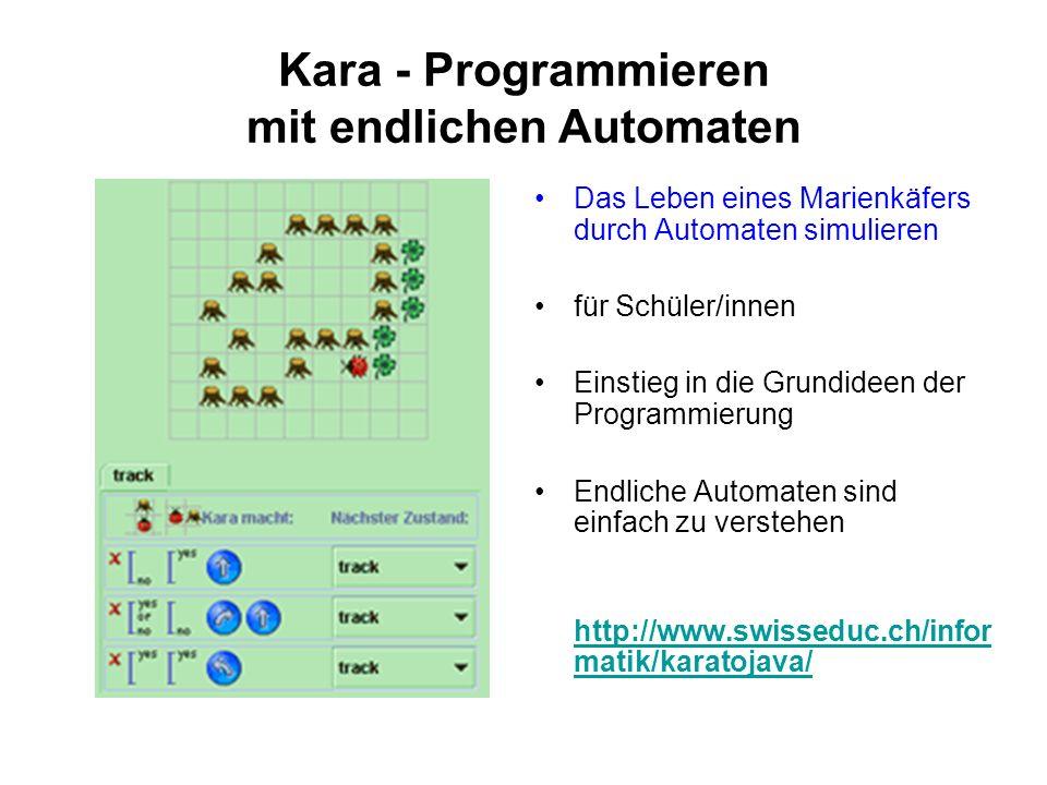 Kara - Programmieren mit endlichen Automaten Das Leben eines Marienkäfers durch Automaten simulieren für Schüler/innen Einstieg in die Grundideen der
