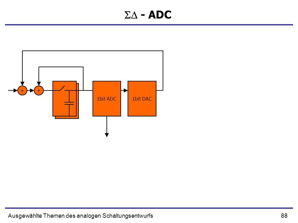 89Ausgewählte Themen des analogen Schaltungsentwurfs - ADC 1bit ADC1bit DAC +