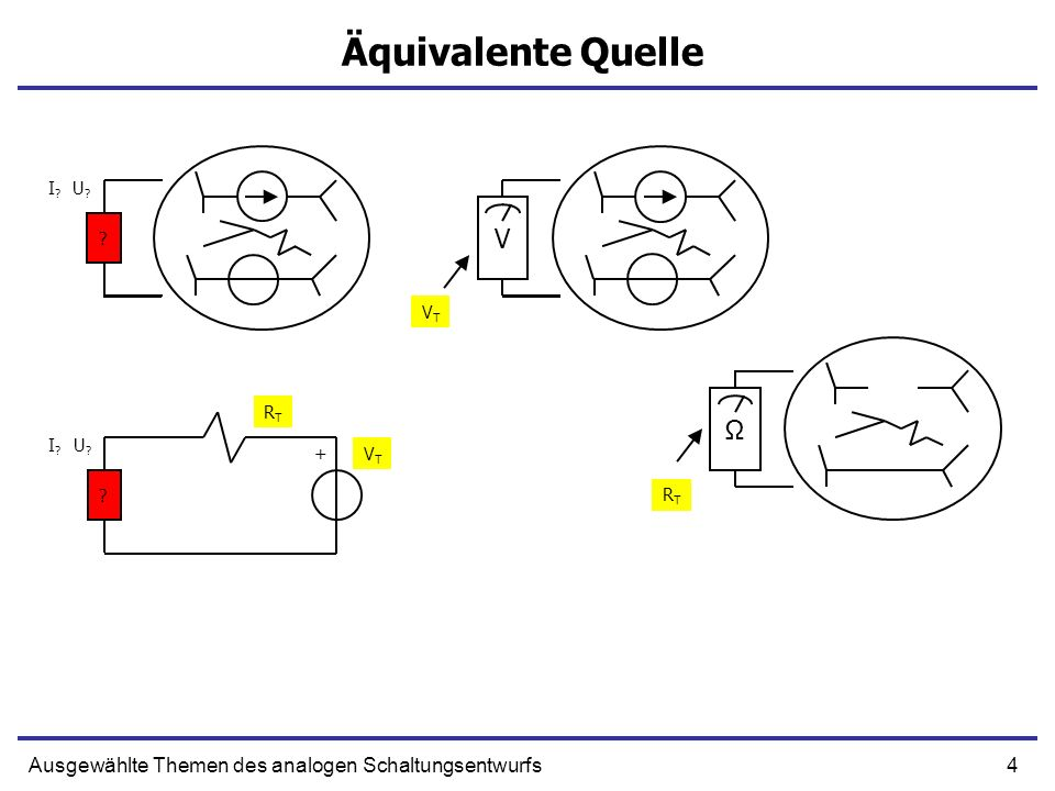 5Ausgewählte Themen des analogen Schaltungsentwurfs Äquivalente Quelle I?I.