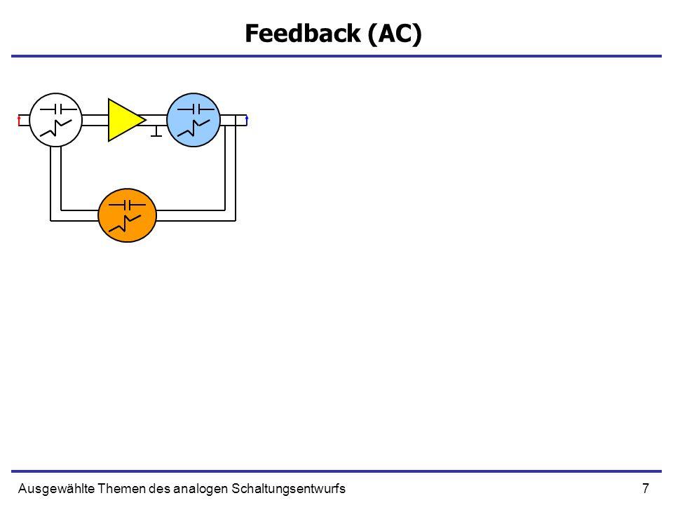 38Ausgewählte Themen des analogen Schaltungsentwurfs Schleifenverstärkung + - OUT R1R1 R2R2 Xs+ Xo + XiXi* + - AXi* + Xi*