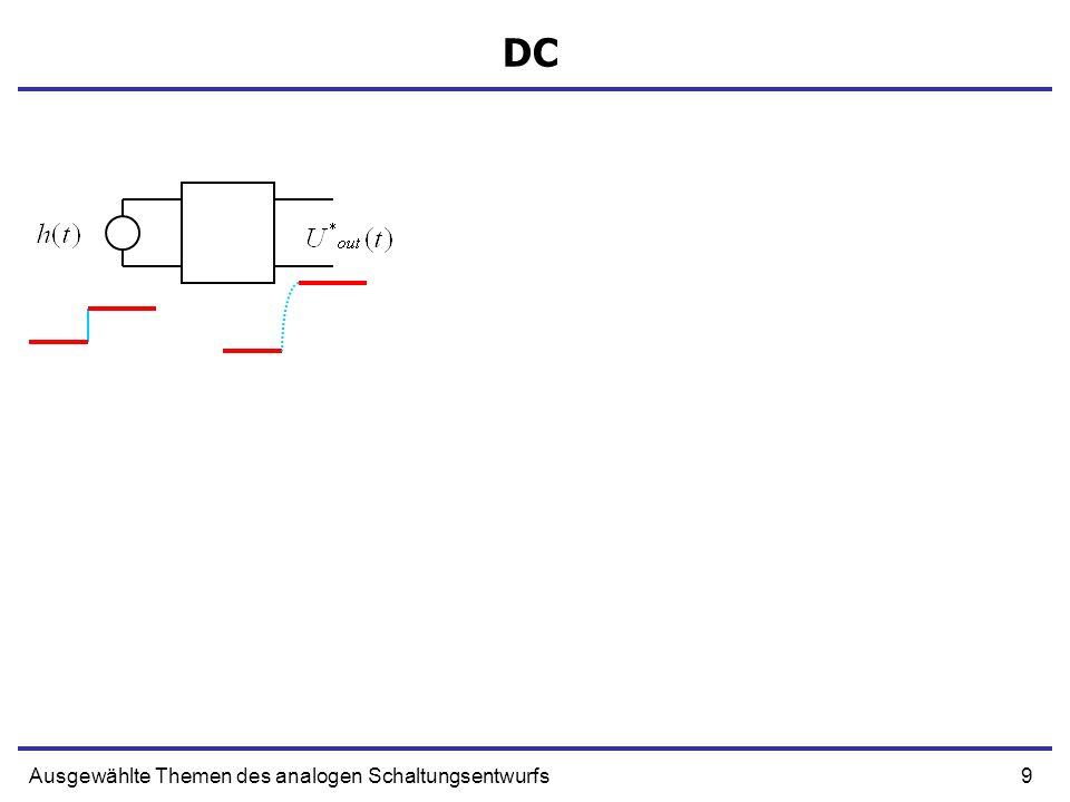 30Ausgewählte Themen des analogen Schaltungsentwurfs Ein Beispiel - Sourcefolger Rs Rg Ugs + gmUgs Rd Ω Widerstand ohne Verstärkung