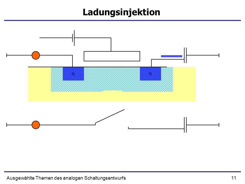 11Ausgewählte Themen des analogen Schaltungsentwurfs Ladungsinjektion NN