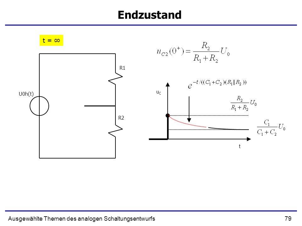79Ausgewählte Themen des analogen Schaltungsentwurfs Endzustand R1 R2 U0h(t) t = uCuC t