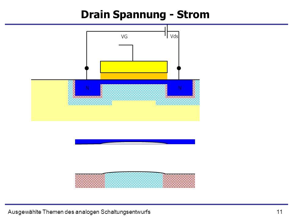 11Ausgewählte Themen des analogen Schaltungsentwurfs Drain Spannung - Strom NN NN VG Vds