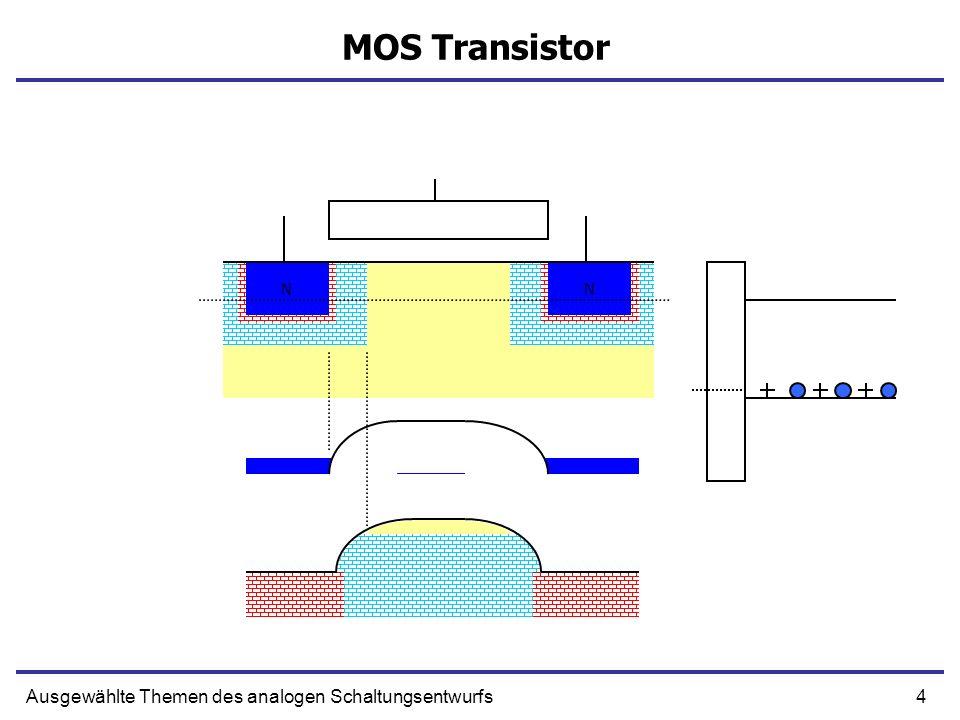 4Ausgewählte Themen des analogen Schaltungsentwurfs MOS Transistor NN