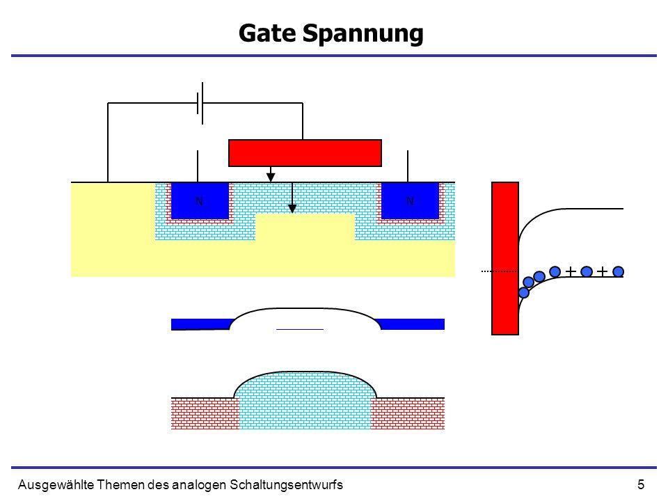 5Ausgewählte Themen des analogen Schaltungsentwurfs Gate Spannung NN NN