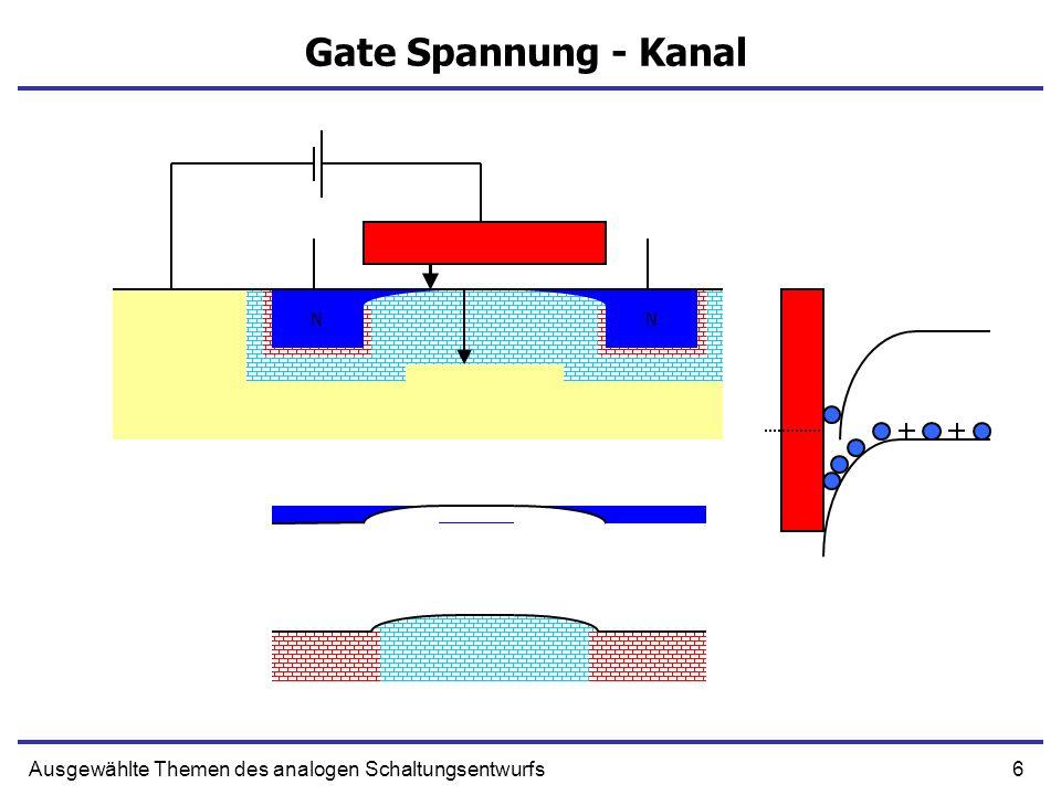 6Ausgewählte Themen des analogen Schaltungsentwurfs Gate Spannung - Kanal NN NN