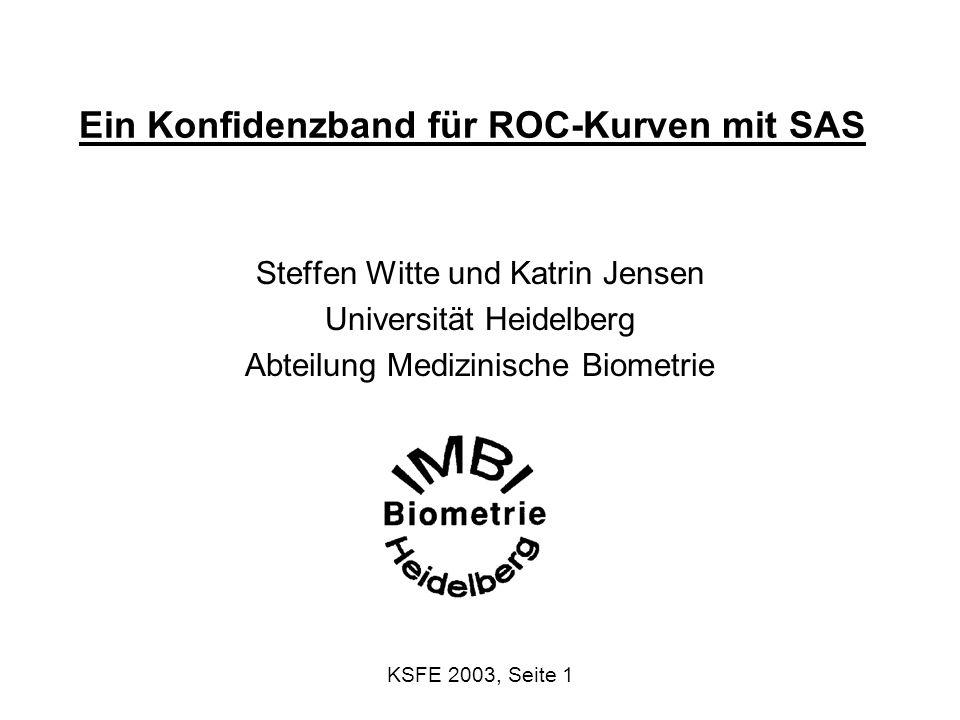KSFE 2003, Seite 2 Publikationen mit und über ROC in PubMed