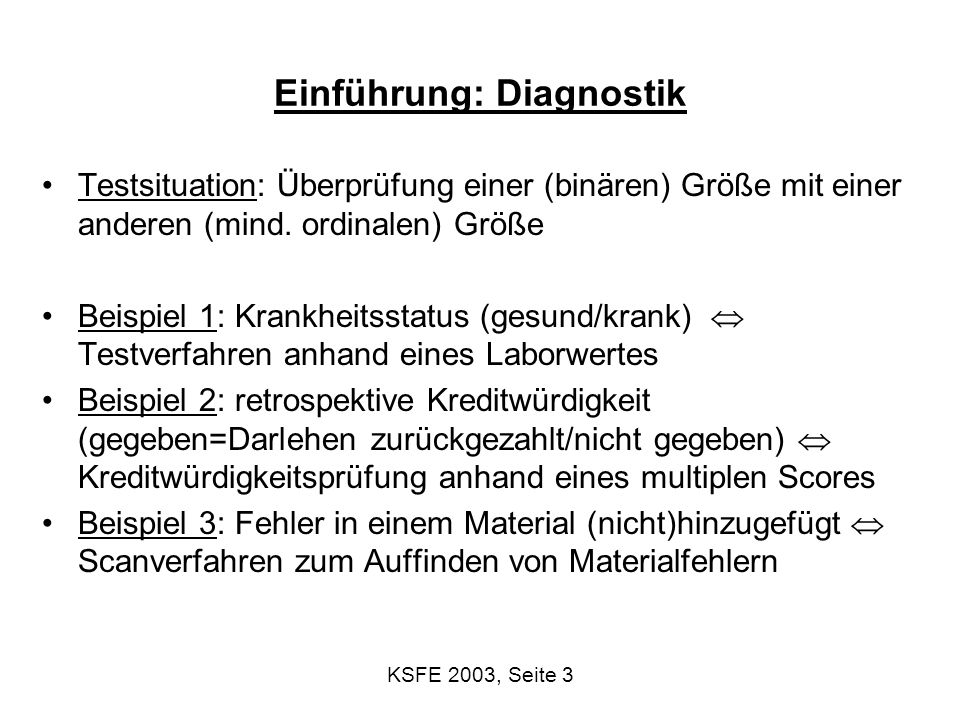 KSFE 2003, Seite 14 ohne Konfidenzband (ln(LDH))