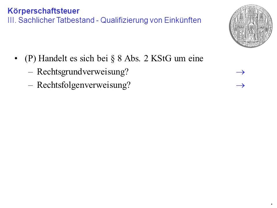 Gesellschafterfremdfinanzierung (§ 8a KStG) im Überblick Rechtsfolgen: Zinsen werden in vGA umqualifiziert, d.h.